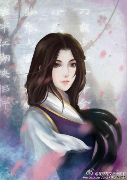 花菲花的仙剑人物头像练习